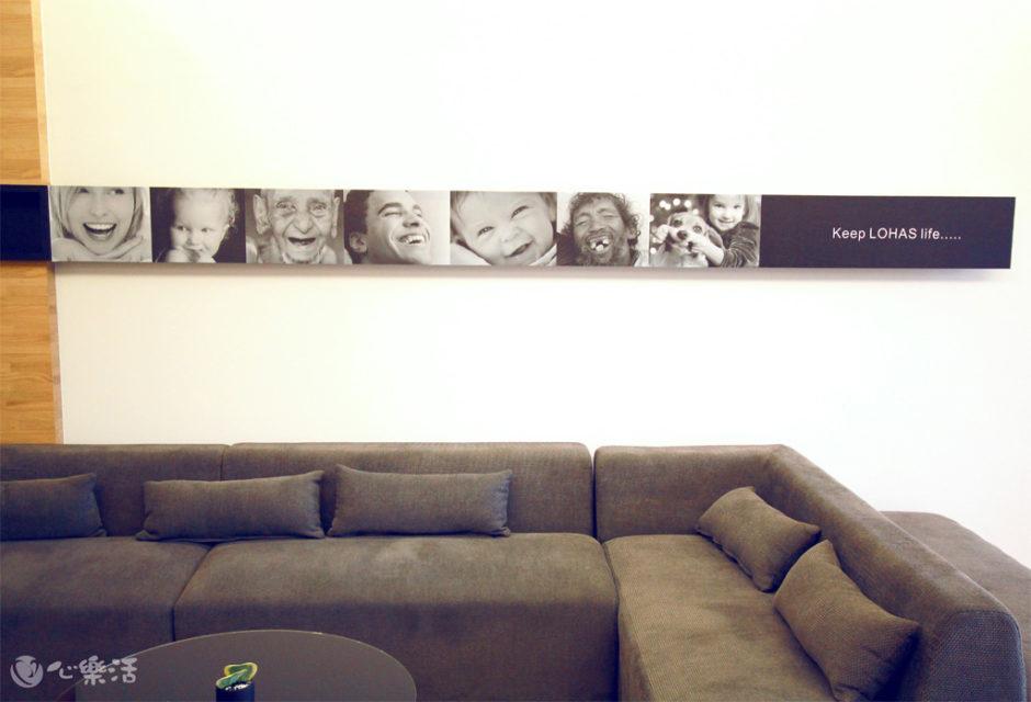 心樂活診所候診空間壁畫